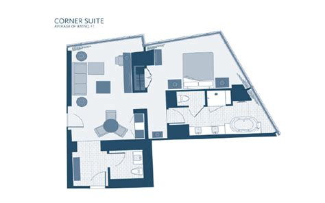 aria corner suite floor plan aria rooms suites