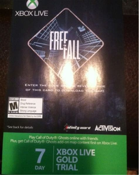 xbox 7 day trial free free 7 day xbox live gold trial and free fall map prepaid cards codes