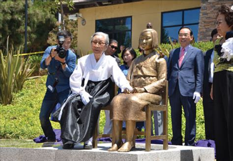 comfort women monument comfort women get a memorial statue in glendale california