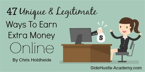 Ways To Legitimately Make Money Online - 47 unique legitimate ways to earn extra money online