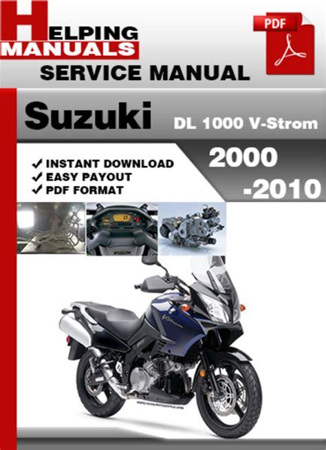 suzuki dl1000 v strom factory service repair manual pdf pdfsr com suzuki dl 1000 v strom 2000 2010 service repair manual download d
