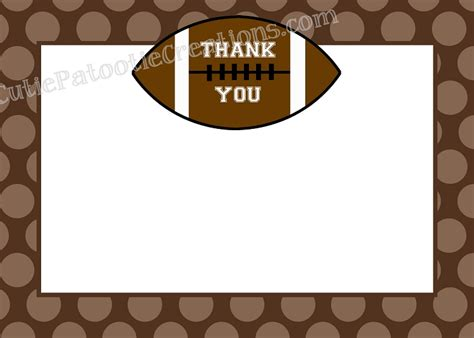 soccer thank you card template football thank you cards