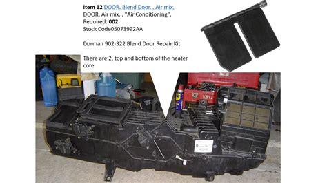 automotive air conditioning repair 2005 dodge dakota instrument cluster 2002 dodge ram 1500 slt blend door youtube