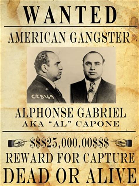 al capone wanted poster fine art print by unknown at