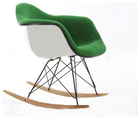 eames rocking chair fiberglass rar eames rocking chair upholstered fiberglass dezign