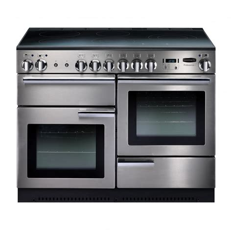 electric oven with induction hob rangemaster professional plus 110 all electric range cooker with induction hob