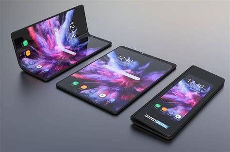 asi se veria el celular plegable de samsung  se va  lanzar en