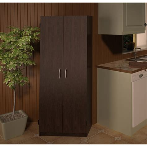 Walmart Kitchen Cabinets by Door Storage Pantry Espresso Walmart
