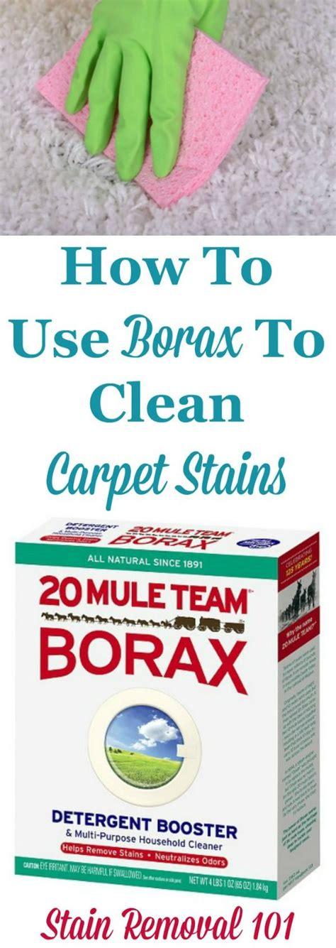 borax  clean carpet  remove carpet stains