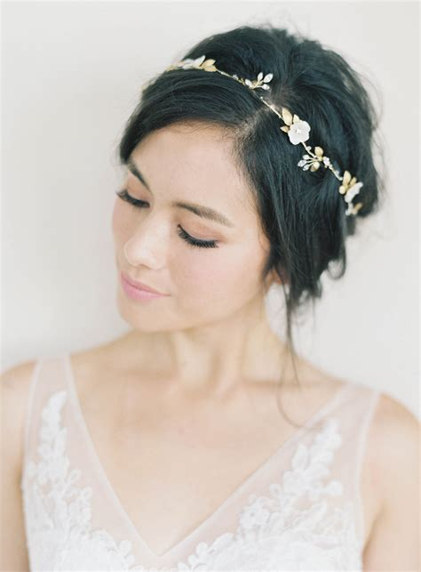 Whimsical Hairstyles by Chiali Meng S Whimsical Wedding Hairstyles Bhldn