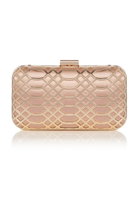Al Trose Clutch coast gold clutch in pink lyst