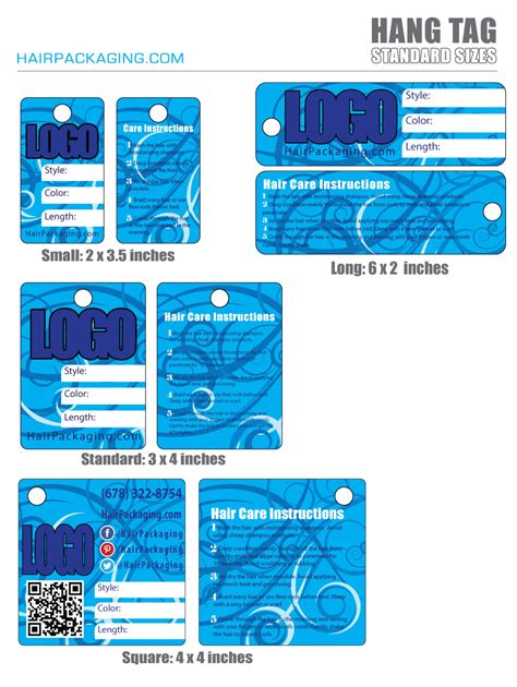 Tag For Standard Size Of Hair Hang Tags Standard Sizes From Hairpackaging Hairpackaging