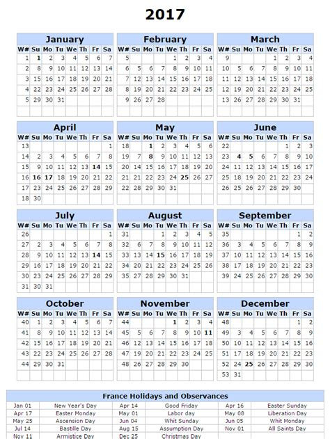 2017 Calendar With Holidays Printable Free Printable Calendar 2017 2017 Calendar With