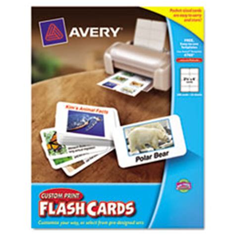 avery flash cards template avery 04760 printable flash cards 2 1 2 x 4 white 8