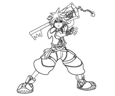 kingdom hearts coloring pages sora kingdom hearts sora and kairi free coloring pages