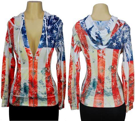 Gbi Jaket Jacket Wanita Sweater Hoodie american flag hoodie sweatshirt s all print