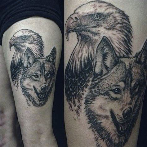 eagle tattoo thigh 70 thigh tattoos for men manly ink designs