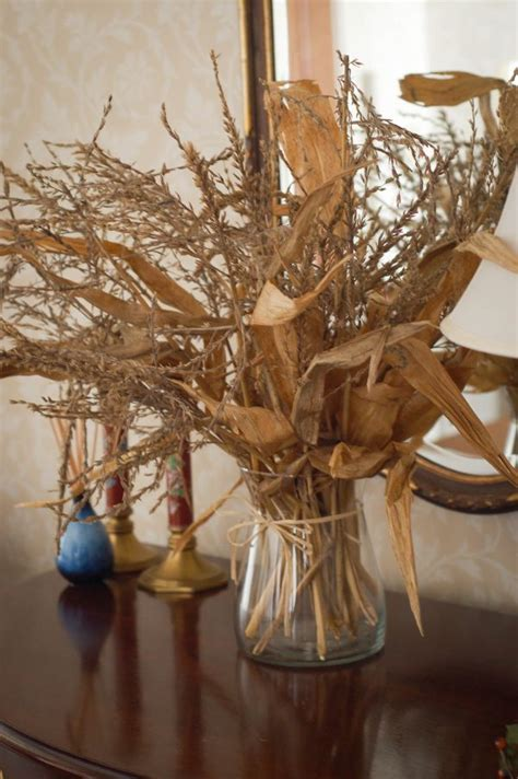 Fall Decorations With Corn Stalks by Beautiful Fall Decorations Made With Dried Corn And Corn