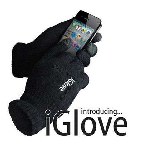 Iglove Touch Gloves For Smartphones Tablet Black Limited iglove sarung tangan touch screen untuk smartphones