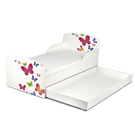 toddler bed with storage butterflies mdf toddler bed with underbed storage new kids