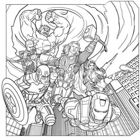 marvel adventures coloring pages thrilling adventure of superheroes avengers 20 avengers