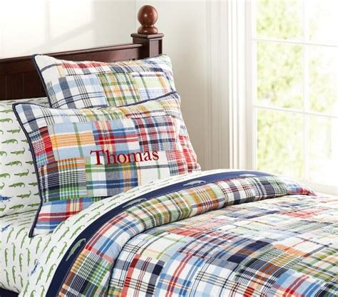 madras quilted bedding pottery barn guest bedroom family with baby