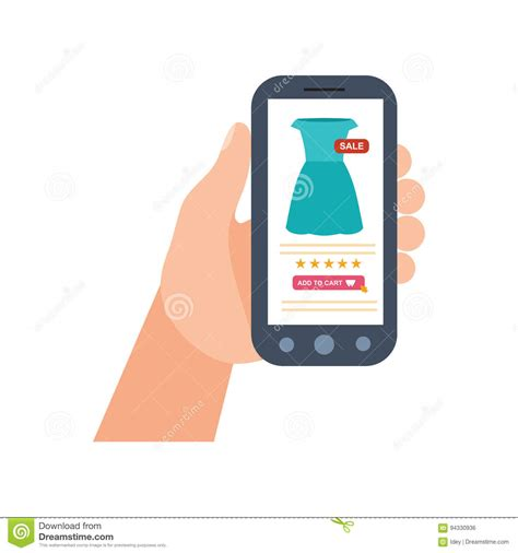 mobile shopping e commerce the purchasing product via mobile
