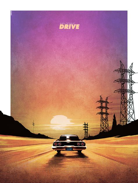 drive poster artist matt ferguson does an awesome poster for drive
