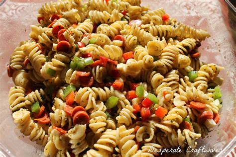 pasta salad italian dressing desperate craftwives zesty italian pasta salad