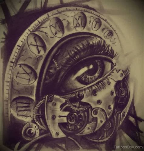 clock and eye tattoo tattoo designs tattoo pictures