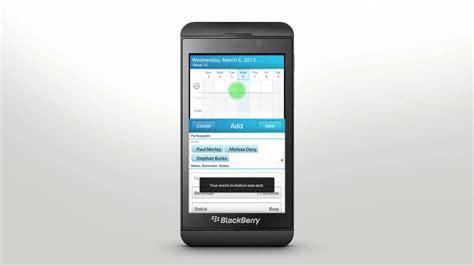 Calendar App For Blackberry Using Calendar App Blackberry Z10 Official How To Demo