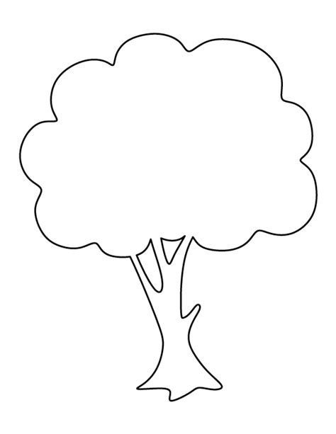 tree pattern without leaves coloring page tree printable apple tree template
