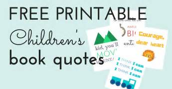 Arts And Crafts Books For Kids - free printable children s book quotes jules amp co