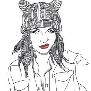 Acacia Brinley Dark Girl Grunge Hair Instagram Love Outline  sketch template