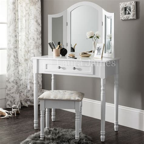 Vanity Table And Stool by White Dressing Table Mirror Stool Set Dresser