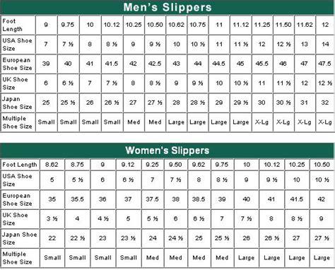 crochet slipper size chart s slipper size chart sizing chart crochet
