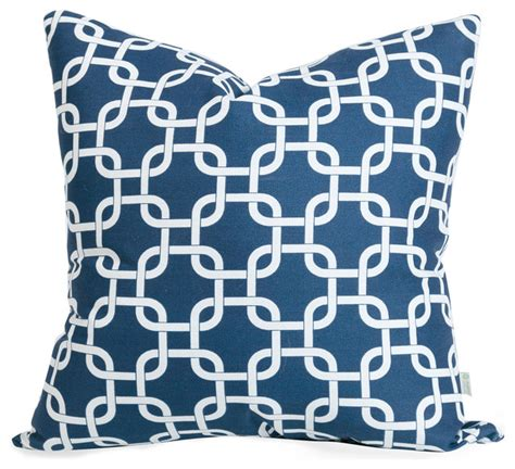 Outdoor Pillows Navy by Outdoor Navy Blue Links Large Pillow Modern Outdoor