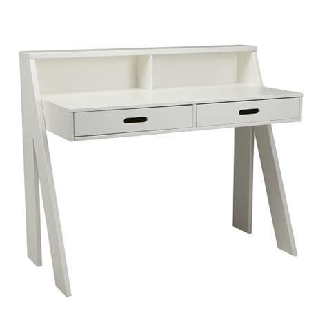 white wooden computer desk zanbury modern wooden computer desk in white