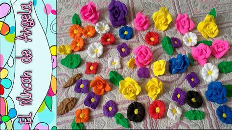 imagenes infantiles hechas en foami diy foami o goma eva moldeable como hacer flores y hojas