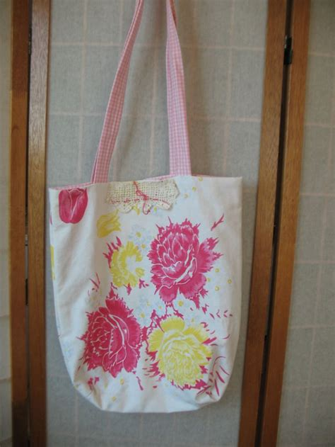 Handmade Grocery Bags - 57 best images about vintage linens upcycled on