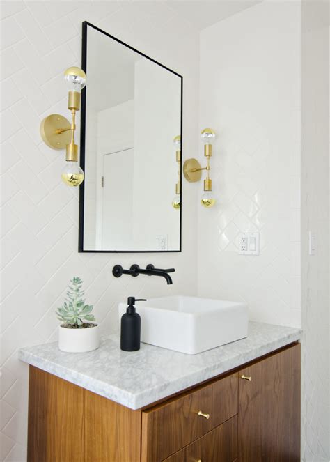 wood white gold bathroom remodel the vintage rug shop