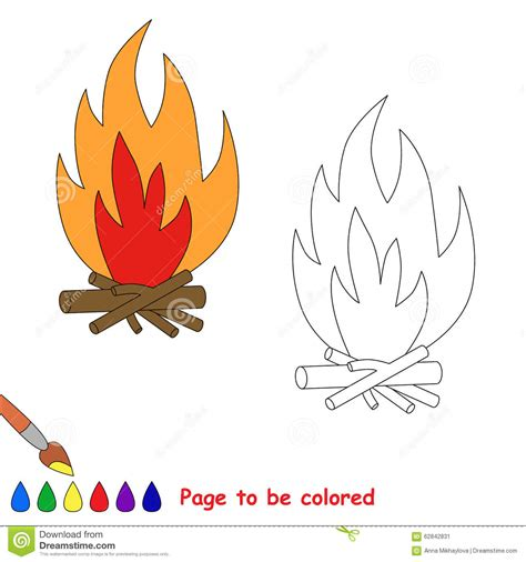 Fireplace Plans Outdoor - vector cartoon bonfire to be colored stock vector image 62842831