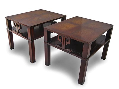 Henredon Side Table by Mid Century Pair Henredon End Side Tables Mix Vintage