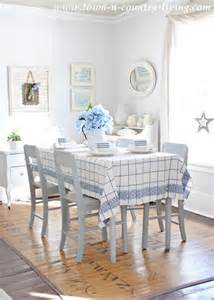 Blue And White Dining Room spring dining room in blue and white town amp country living