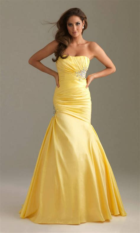 beautiful yellow mermaid prom dresses dresses for every