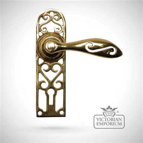 Handle Door Knobs by Cast Brass Cut Out Pattern Handle Door Knobs And Door