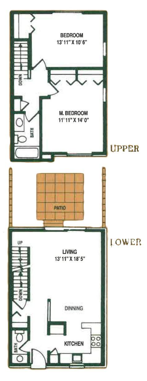 2 bedroom townhouse floor plans woodside apartments