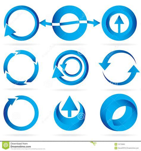 design icon circle blue arrow circle design element icon set royalty free