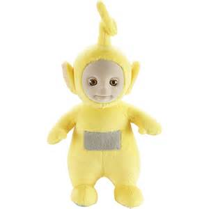 babies r us plush 10 inch two tone teletubbies talking laa laa soft iwoot