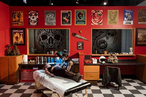 the tattoo shop sailor jerry and the exhibition at chicago s field